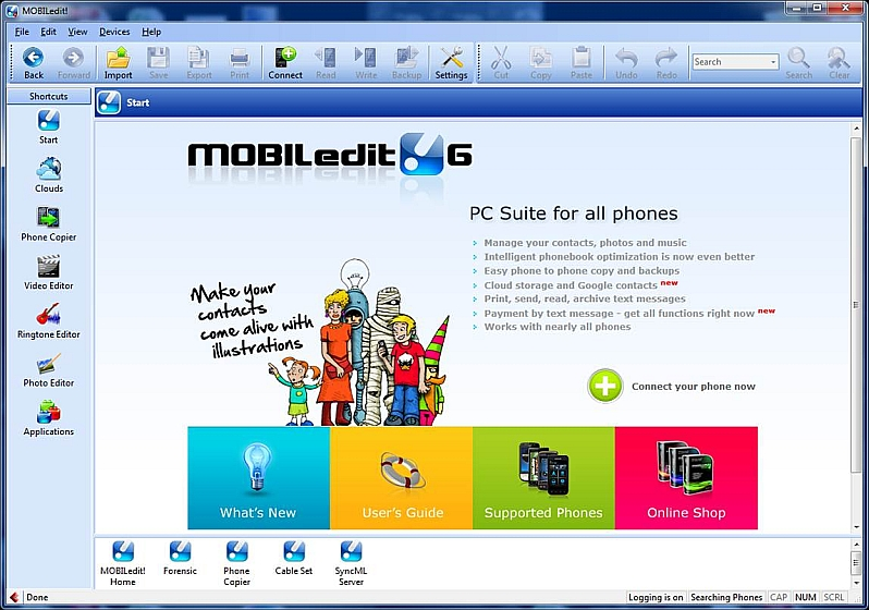 Click to view MOBILedit 6.1.1 screenshot
